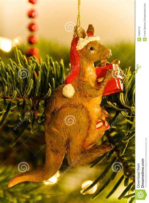 australian kangaroo christmas tree stock image image