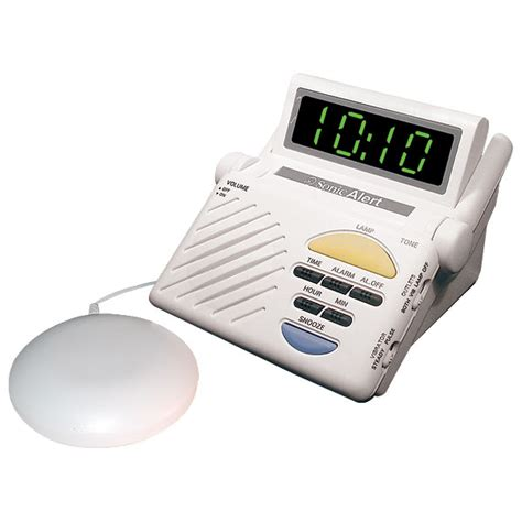 sonic alert sonic boom alarm clock with bed shaker sb1000ss alarm clocks hearmore