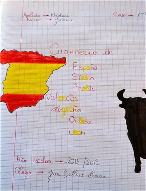 pages de garde cahier d espagnol coll 232 ge jean bullant