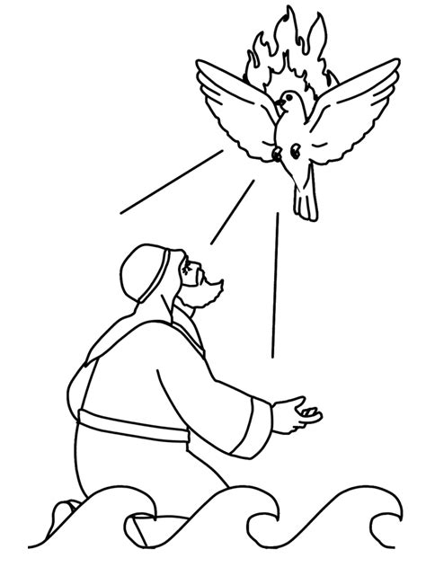 Holy Spirit Coloring Pages For Children by Holy Spirit Pentecost Coloring Pages