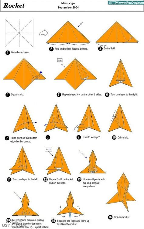 How To Make A Rocket Paper Airplane - origami rocket folding origami