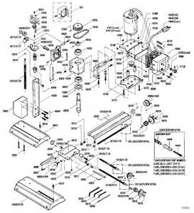 Bridgeport milling machine parts diagram