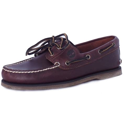 timberland 25077 classic boat shoe mens brown leather
