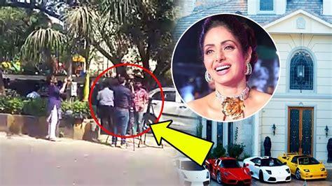 sridevi house video visuals outside late sridevi s house in mumbai youtube