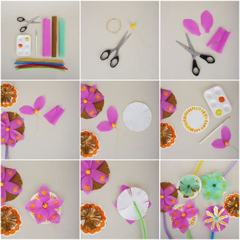 How To Make Easy Paper Craft Step By Step - 20 best images about pretty paper napkin flowers on