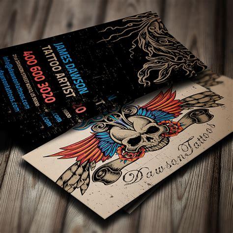 tattoo business cards artist business card on behance