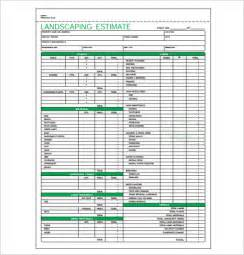 landscape design templates 6 landscaping estimate templates free word excel pdf