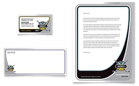 hockey card template word junior hockey c business card letterhead template