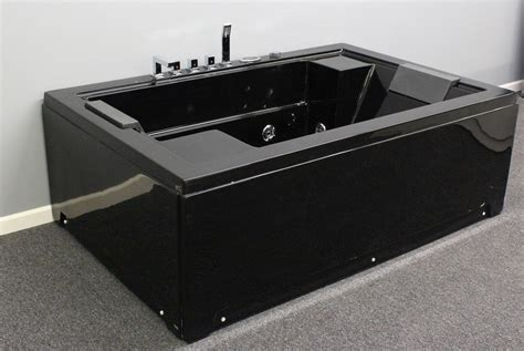black bathtubs air jet bubble massage big bathtub black color 2 person