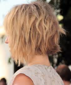 vies of side and back of wavy bob hairstyles short choppy hairstyles back views short hairstyle 2013