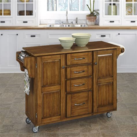 kitchen island overstock create a cart oak finish cart contemporary kitchen