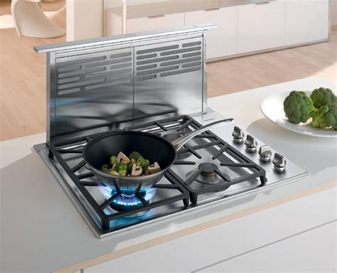 range with built in fan miele da6490500 36 inch telescopic downdraft ventilation