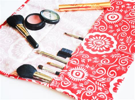 pattern paint brush roll this easy diy makeup brush roll is essential for travel