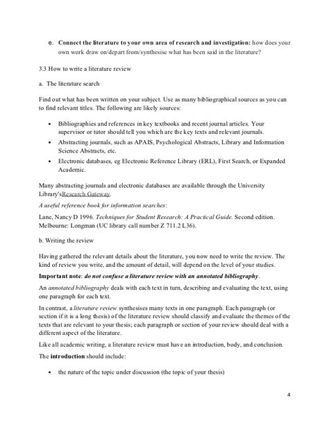 research papers in literature research tips for writing literature review