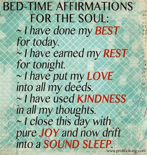 bedtime affirmations affirmations for sound sleep