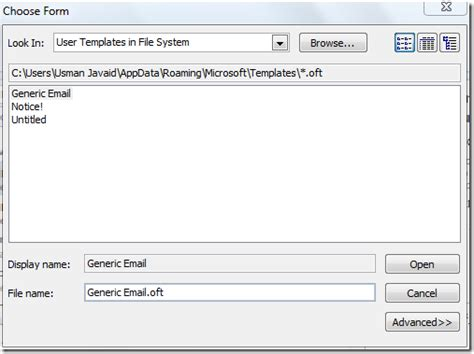 How To Use A Template In Outlook 2010