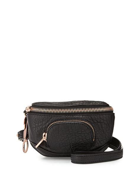 wang dumbo pebbled leather belt bag in black lyst