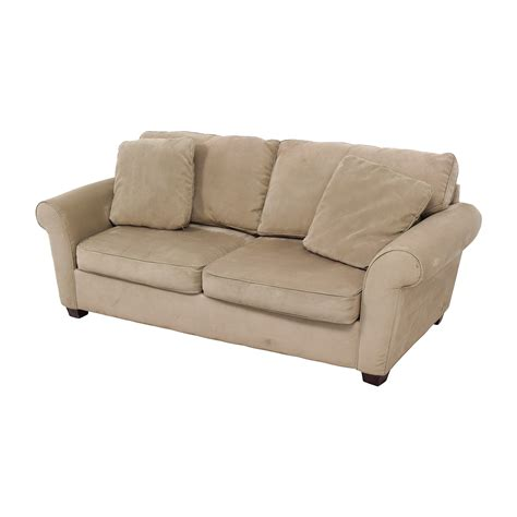 72% OFF   Bauhaus Bauhaus Microfiber Tan Oversized Couch / Sofas