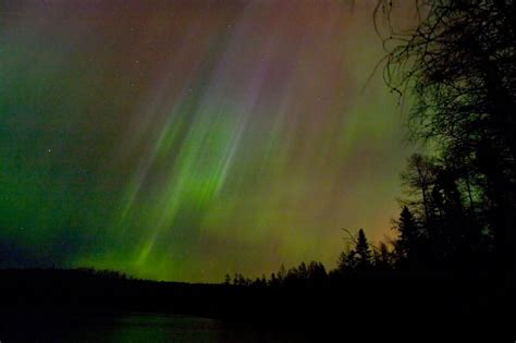 picturing  big lake photographing  northern lights