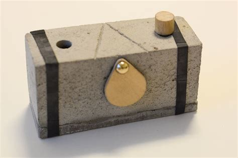 Handmade Pinhole - diy how to make a pinhole out of concrete