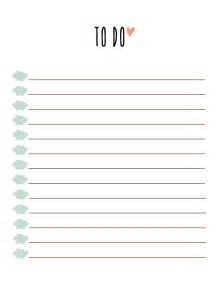 List Templates Printable by To Do List Printable Free To Do List