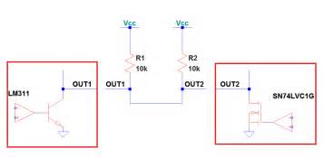 open drain pull resistor wired or open drain with open collector outputs electrical engineering stack exchange