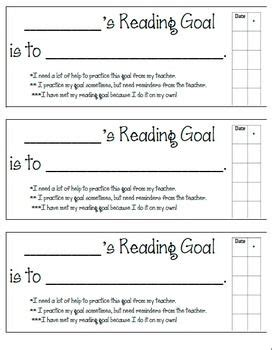 goal sheet template for students best 20 reading goals ideas on classroom