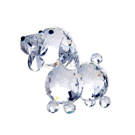 Animal Figurines Home Decor by 1 8inch Clear Glass Crystal Dog Figurines Paperweight