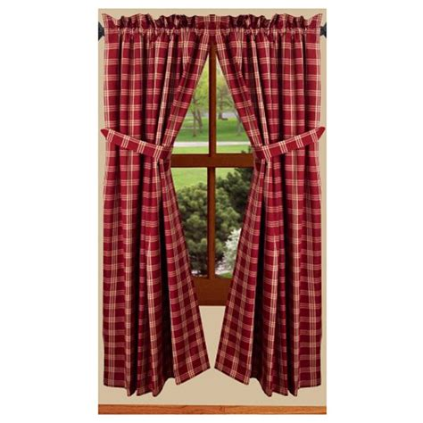 63 curtains window treatments middletown check barn prairie 63 quot curtains