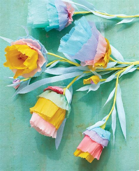 Paper Flowers Craft - paper to petal