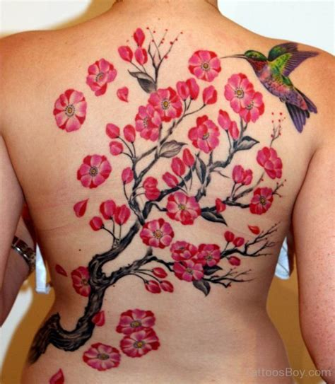 cherry blossom back tattoo designs cherry blossom tattoos designs pictures