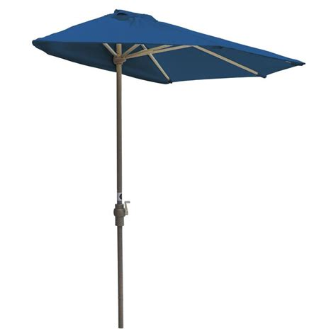 Half Patio Umbrella Hton Bay Statesville 9 Ft Steel Crank And Tilt Patio Umbrella In Gray Yjauc