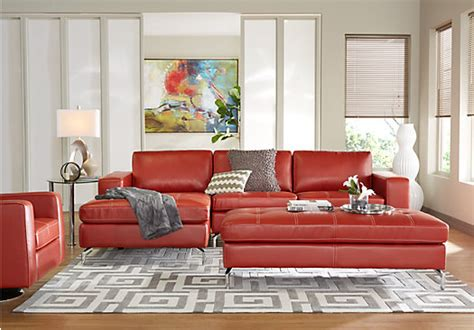 Rooms To Go Brandon by Brandon Heights Papaya 3 Pc Sectional Living Room