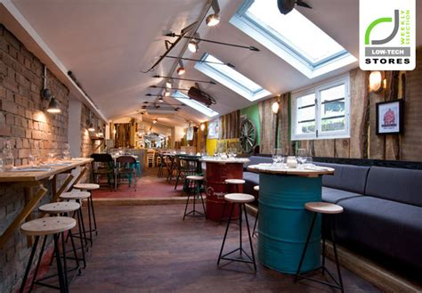 cafe interior design london low tech design the shed restaurant london 187 retail