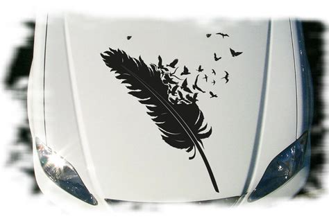 Autoaufkleber Vogel by Autoaufkleber Feder V 246 Gel Aufkleber Motorhaube