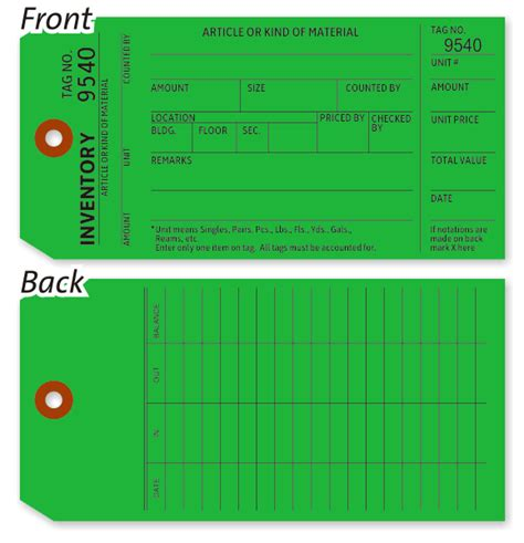 printable asset labels green inventory count tag economical inventory tags bulk