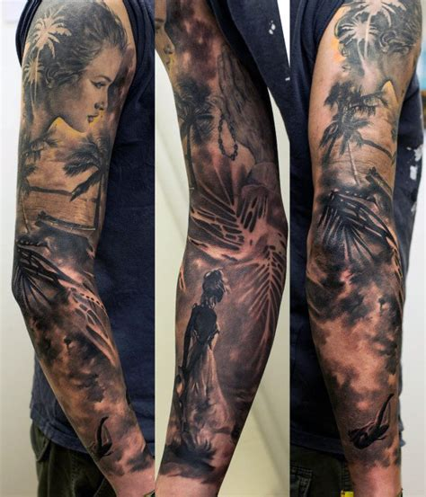 mens half sleeve tattoo top 100 best sleeve tattoos for cool designs and ideas