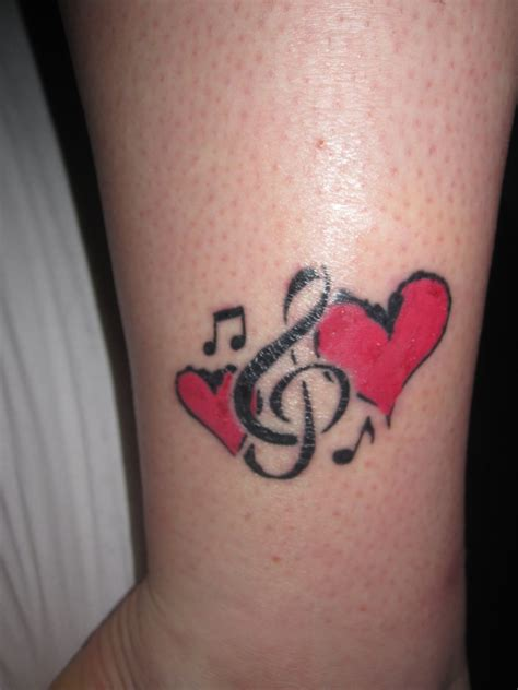 heart with music notes tattoo designs notes and hearts ideas tatoos