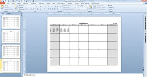 Make Your Free Calendar 2013 Template In Powerpoint Calendar Template Powerpoint
