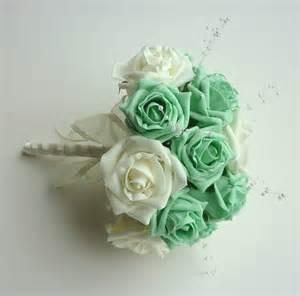 Fake Flower Bouquets Mint Green Bridesmaid Bouquet Bridesmaid Bouquet Posie
