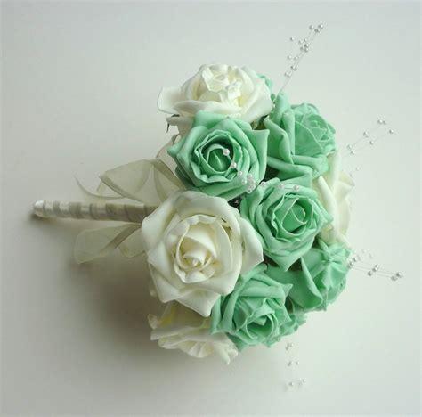 Wedding Bouquet Mint Green mint green bridesmaid bouquet bridesmaid bouquet posie