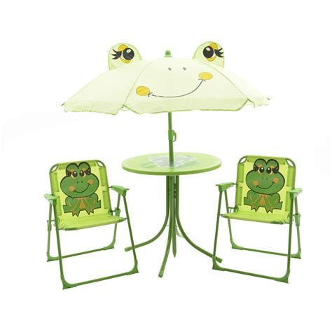 salon enfant salon de jardin pour enfant grenouille vert mobilier
