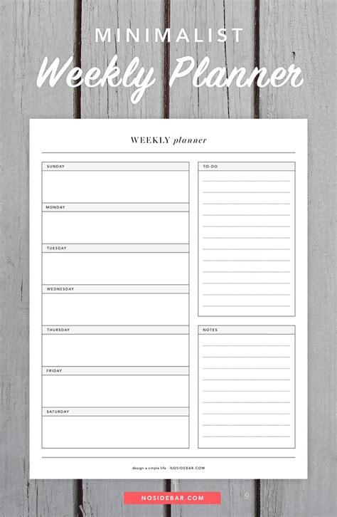 Weekly Calendar Planner Best 25 Weekly Planner Printable Ideas On