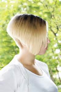 back view of womens hairstyles with clippered back clippered nape bob haircut hairstyle gallery