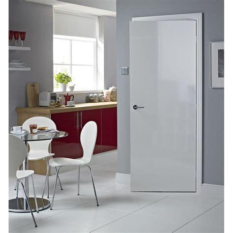Gloss Interiors by Buy Premdor White Modern Flush Foil Door In