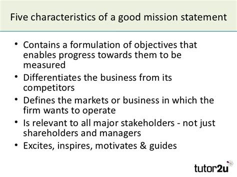 mission statement objectives mission aims objectives