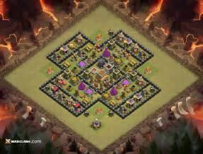 War amp defense anti 3 th8 clash of clans clan war base layout