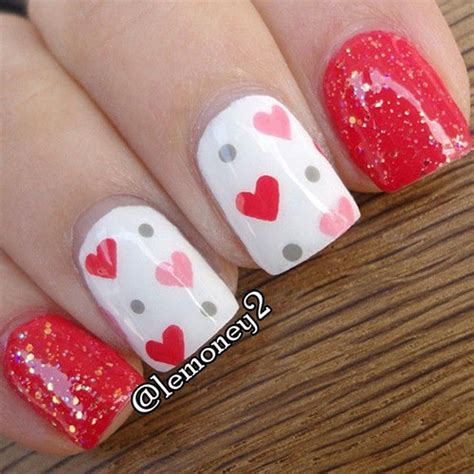 valentines nail 15 easy s day nail designs ideas