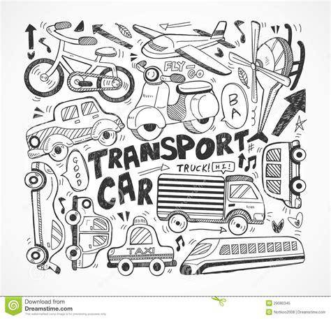 doodle element doodle transport element royalty free stock photo image