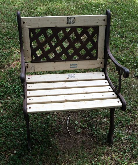 cast bench how to rebuild and restore a cast iron garden bench and